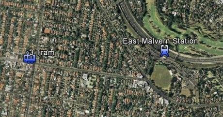 3 Tram-East Malvern Station