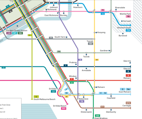 New tram map